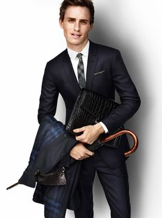 Two of my favorite things: Eddie Redmayne and Burberry. <3