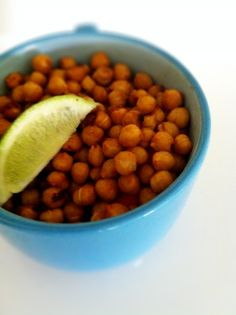 Several ways to create roasted chickpeas.   I tried the Tabasco-garlic-lime ones and made up some chili powder-garlic salt-seasoned salt ones, and they were both way good. Chris especially liked the Tabasco ones. Will definitely make again.