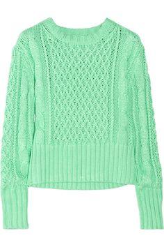 Acne                                  Lia cable-knit cotton sweater                              $320