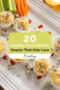 20 Healthy Summertime Snacks That Kids Love: All day, all summer long, the kids will be begging for a snack -- here's a list of ones moms can feel good about giving out.