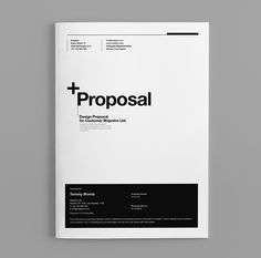 Proposal Template Suisse Design with Invoice by Egotype, via Behance