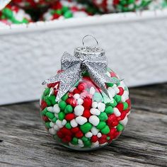 Candy Filled Ornaments | SimplyCelebrate.Meals.com - Make these candy-filled, colorful ornaments for festive tree decorations or as great gifts. #christmas #ornaments #crafts #simplycelebrate