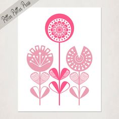 Hey, I found this really awesome Etsy listing at http://www.etsy.com/listing/120975780/girls-pink-nursery-flowers-baby-girl-art