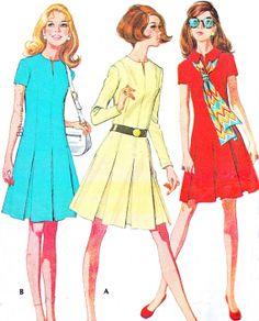 1970s Dress Pattern McCalls 2463 Mod Split Neck by paneenjerez, $10.00