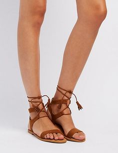 59ce173b71a Bamboo Lace-Up Ankle Sandals