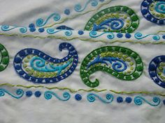 Paisley Embroidered Pillow Case | Flickr - Photo Sharing!