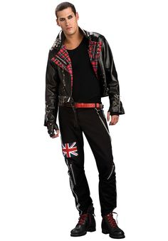 Transform into the most scary skater around in our Zombie Skate Punk costume! From our Halloween Costumes range. Costumes For Sale, Cool Costumes, Halloween Costumes, Costume Ideas, Gay Costume, Punk Costume, 70s Punk, Bomber Jacket, Jacket Men