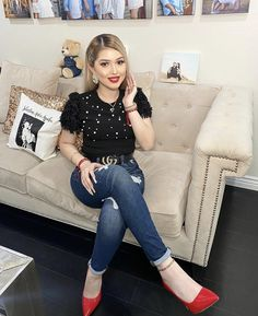 Trendy Fall Outfits, Teen Fashion Outfits, Cute Fashion, Chic Outfits, Summer Outfits, Womens Fashion, Fiesta Outfit, Looks Jeans, Ripped Jeans Outfit