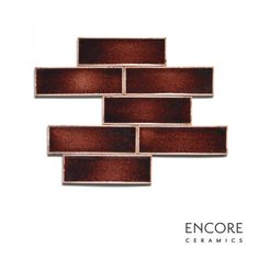 Encore Ceramics | 2 x 6 field tile hand-glazed in Garnet jewel | Sustainably made in Oregon
