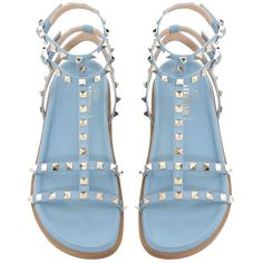 96d65346eae Valentino Brand New Submerge Rockstud Blue Sandals (10 760 ZAR) ❤ liked on  Polyvore