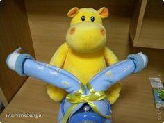 DIY Hippo on the Bike Diaper Gift Step 18