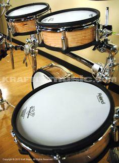 Roland TD-30KV V-Pro Electronic Drum Set - Natural DRUM ESSENTIALS BUNDLE | KraftMUSIC.com