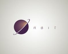 ORBIT Logo design - ORBIT - Inspired by outer space. Colors chosen to support the mystique of the theme.Minimalistic, futuristic logo with a strong appearance. Perfect for any business dealing with technology, electronics, even astrology. Price $299.00