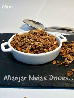 Granola caseira de aveia - http://gostinhos.com/granola-caseira-de-aveia/