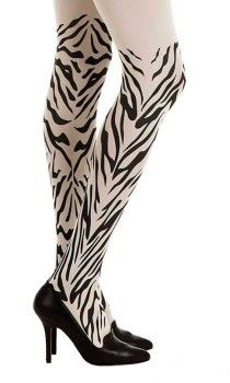 Light up your look with these super trendy White Zebra Tights from Zohara. These 120 denier opaque tights feature Black sebra print pattern that run around both legs. Sheer Tights, Opaque Tights, Black Tights, Winter Fashion 2016, 2016 Winter, Colored Tights, Patterned Tights, Print Tights