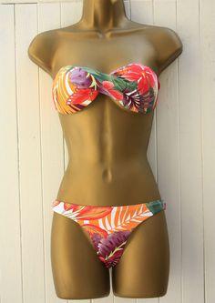 Kinky Octopus, Butterfly & Floral thong, Bikini Bottoms, £18 Brazilian Swimwear,