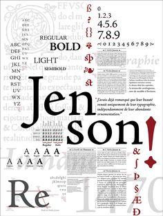 Robert Slimbach Adobe Jenson Pro 1995 2000 Poster by Caroline Grimprel Anselme Calabrese 2014