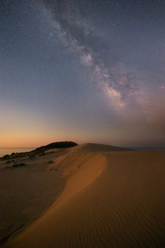 Milky Way over sand dunes