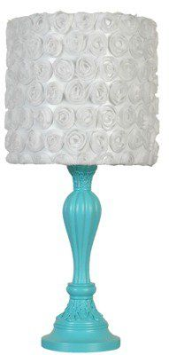 #Target                   #table                    #Xhilaration� #Roses #Table #Lamp #Turquoise        Xhilaration� Roses Table Lamp - Turquoise                                     http://www.seapai.com/product.aspx?PID=897837