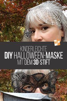 DIY Halloween mask with the pen - Diy Kids Crafts 3d Zeichenstift, Handmade Birthday Gifts, 3d Pen, Mask For Kids, Diy Crafts For Kids, Halloween Diy, Craft Gifts, Cool Gifts, Diys