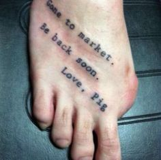 Humour de pied