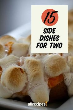 "15 Side Dishes for Two | ""Having side dishes can really make a meal feel well-rounded. But if you're only cooking for two, it's easy to have mountains of leftovers when your side dish is meant for serving a larger crowd."" #thanksgiving #thankgivingrecipes #thanksgivingsidedishes Potato Hash Recipe, Sweet Potato Hash, Sweet Potato Casserole, Baked Butternut Squash, Acorn Squash Recipes, Sage Butter, Garlic Butter, Chipotle Chile, Pomegranate Salad"