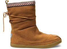 Chestnut Suede Trim Women's Nepal Boots