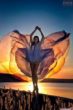 Dance at Sunset #glow #dancer #movement
