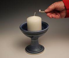 Blue Unitarian Universalist Ceramic Ceremony Chalice by UUGifts