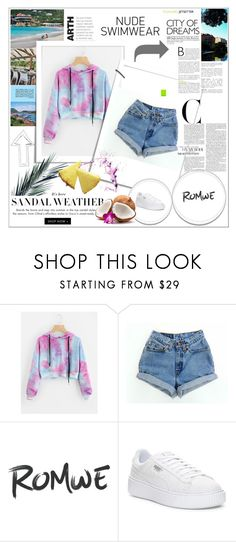 """romwe"" by anitaa-2 ❤ liked on Polyvore featuring Puma"