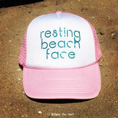 Resting Beach Face Trucker Hat