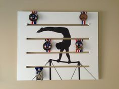Boys Gymnastics High Bar - Didit Medals Display. New way to display your medals and decorate your room.