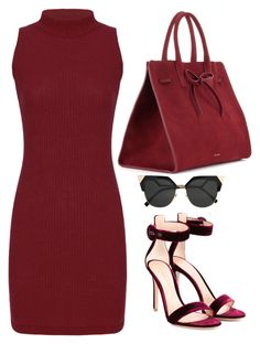Red by carolineas on Polyvore featuring polyvore, fashion, style, Gianvito Rossi, Mansur Gavriel, Fendi and clothing