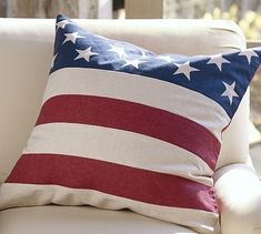 Pottery Barn Inspired Stars and Stripes Burlap Pillow Burlap Pillows, Custom Pillows, Throw Pillows, Painting Carpet, Pottery Barn Inspired, Bird Embroidery, Pillow Quotes, White Wicker, Patriotic Decorations