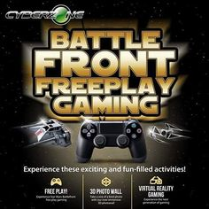An awesome Virtual Reality pic! Are you excited for Star Wars??? You don't have to travel to the galaxy to experience it as Cyberzone brings you BATTLEFRONT FREEPLAY GAMING @smcitybf this Saturday December 19!!! #StarWarsAtSM #EverythingsHere #SMBFForeverrr #SMCityBF #SMBF #starwars #maytheforcebewithyou #gaming #videogame #freeplay #photowall #virtualreality #play #fun #galaxy #interspace #battle #fight #win #conquer by smcitybf check us out: http://bit.ly/1KyLetq