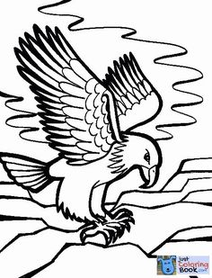 Free Printable Bald Eagle Coloring Pages For Kids Eagles Train Coloring Pages, Coloring Pages To Print, Free Printable Coloring Pages, Coloring Pages For Kids, Coloring Books, Free Printables, Fly Drawing, Eagle Drawing, Eagle Images