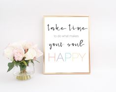Happy Soul 8 X10 Instant Digital Download Home Decor Printable Wall Decor