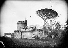 ' il castello di Giulio II ad Ostia Antica...1859