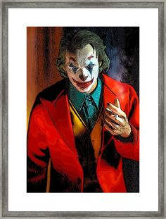 Comedian Comic Framed Print by Jeremy Guerin Joker Film, Joker Art, Batman Art, Framed Art, Framed Prints, Art Prints, Wall Art, Wall Collage, Spiderman Phone Case