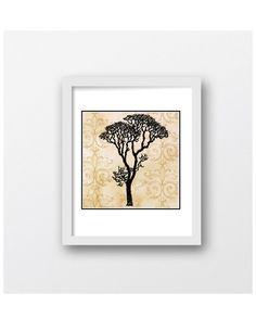 Tree of Cream Tree Art Print Digital Download by MaxMeOneUniverse
