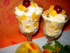 Crema+alla+pesca+gialla+con+yogurt+greco.
