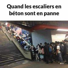 Quand les escaliers de béton sont en panne… image drole humour memes