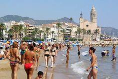 Sitges beach near Barcelona
