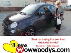 """Best car buying I've ever had! Great dealership!"" Sherri M. Rolla, Missouri"