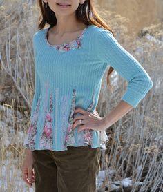 Tea Rose Home: Tutorial ~ Sweater Refashion (sweater too tight?)