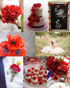 Poppy #Wedding Styling Ideas Mood Board from The Wedding Community