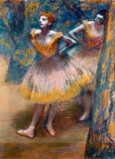 Blue with Yellow Degas dancers