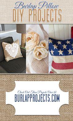 Burlap Pillow DIY Projects
