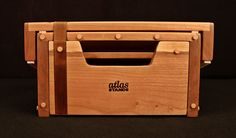 Black Cherry Atlas Low Rider Amp Stand to match a Vintage Sound Classic 15 combo amp in a cherry cabinet.  www.atlas-stands.com