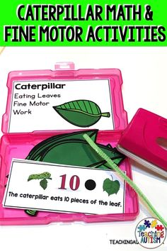 Do your kids need to work on their counting and fine motor skills? Are you looking for some hands-on activities to add to your caterpillar unit? You'll love these counting and fine motor skill task cards! Fine Motor Activities For Kids, Hands On Activities, Sensory Activities, Autism Teaching, Teaching Tips, Hungry Caterpillar Activities, Special Education Classroom, Autism Classroom, Zones Of Regulation